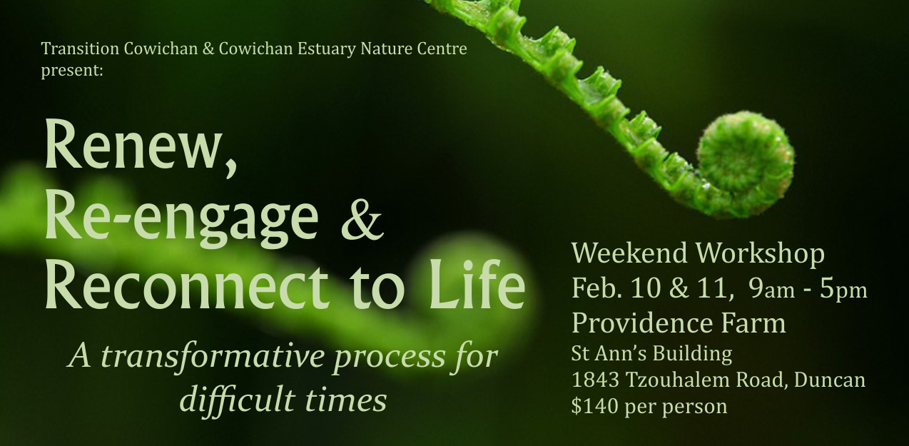 The Work that Reconnects – Renew, Re-engage & Reconnect to Life – A Transformative Process for Difficult Times – Feb 10th-11th